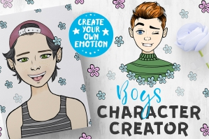 Boys Character Creator. Create Your Emotion