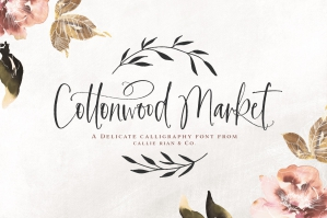 Cottonwood Market Calligraphy Type