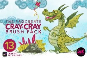Cray-Cray Crayon Brush Pack for Procreate