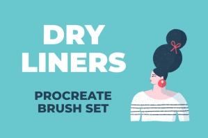 Dry Liners Procreate Brush Set