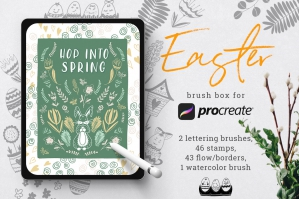 Easter Brush Box for Procreate