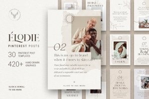 Elodie - Pinterest Post Templates