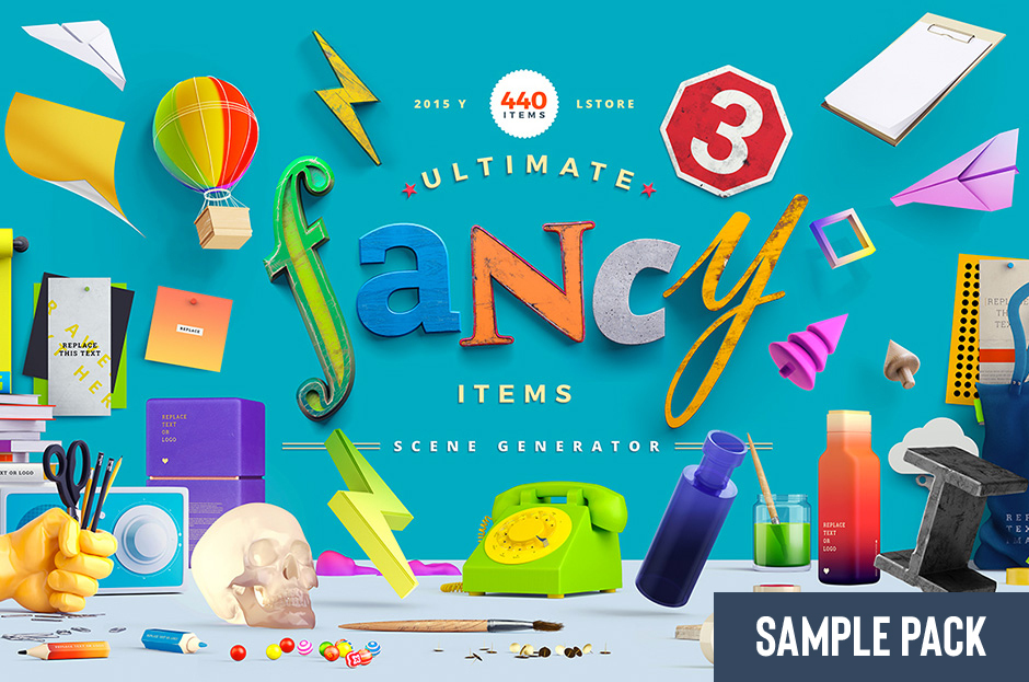 Fancy Items Scene Generator Version 3 Sample