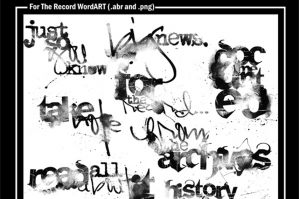 For The Record WordART No. 1