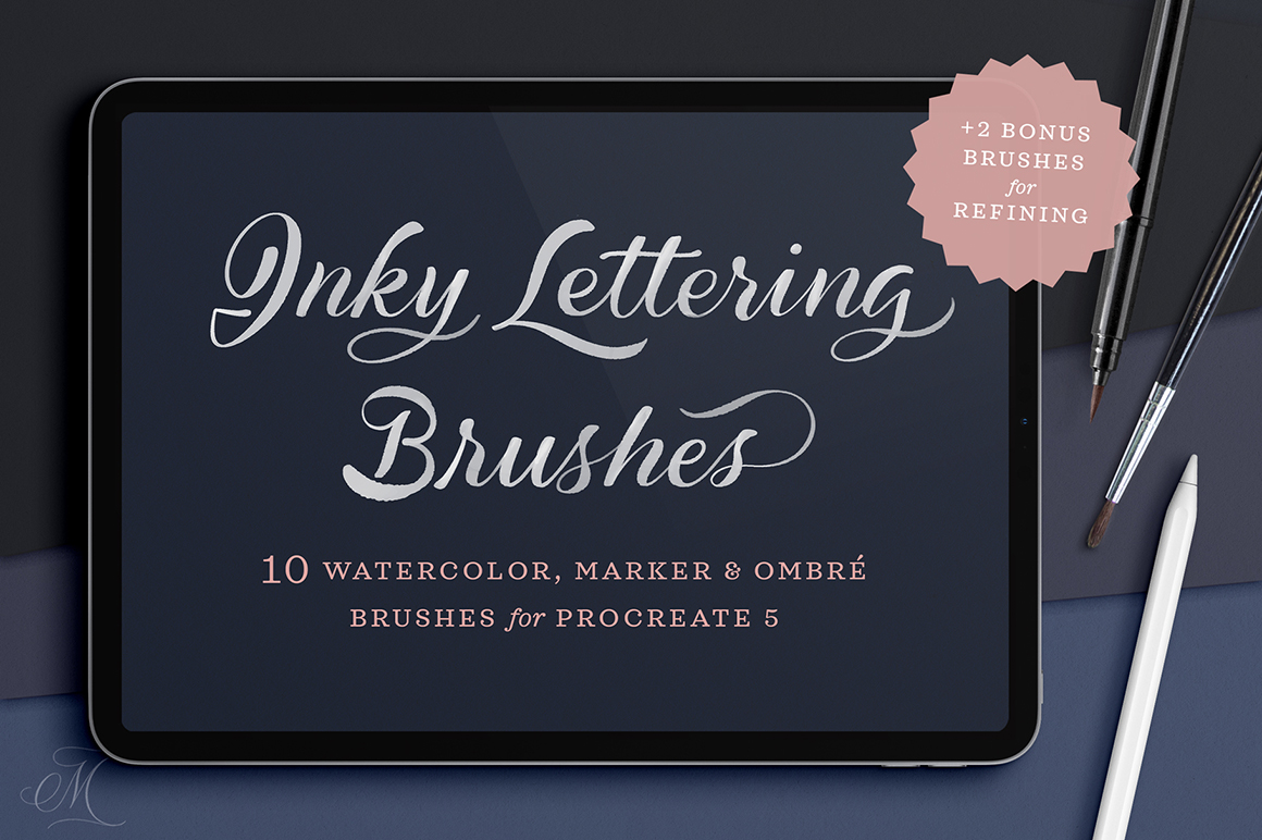 Inky Lettering Procreate Brush Pack