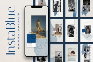 InstaBlue Minimal Instagram Stories
