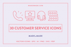 Line Icons – Customer Service