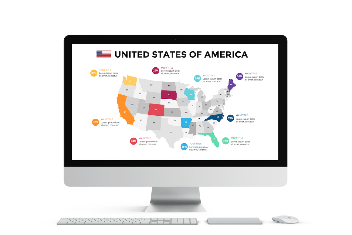 Map Infographics. PowerPoint, Keynote Presentation