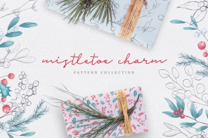 Mistletoe Charm - Floral Pattern Collection