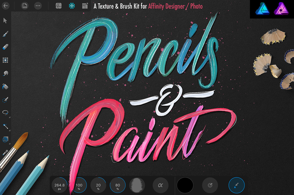 Pencils and Paint Kit for Affinity Designer
