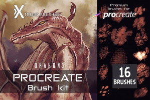 Procreate Dragon Scale Brushes
