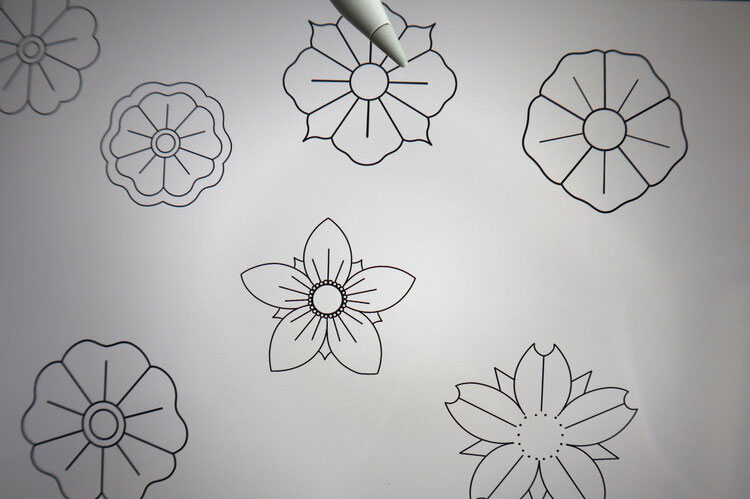 Procreate Tattoo Traditional Style Flowers