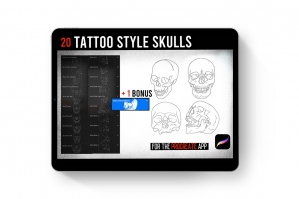 Procreate Tattoo Ultimate Skull Pack