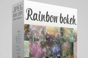 Rainbow Bokeh Fine Art Texture Set