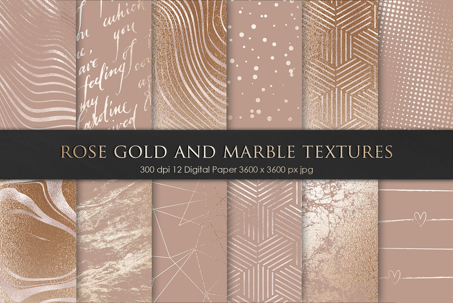 Rose Gold Marble Textures 2
