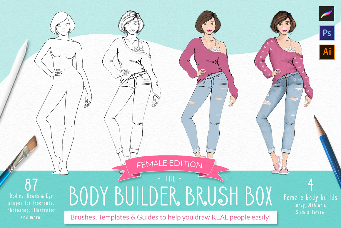 The Body Builder Brush Box
