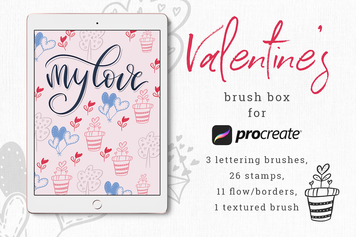 Valentine's Brush Box for Procreate