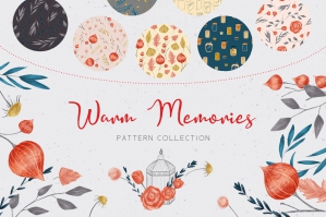 Warm Memories - Autumn Floral Pattern Collection