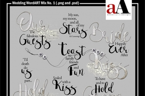 Wedding WordART Mix No. 1