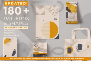 180+ Patterns and Shapes Designers Toolkit