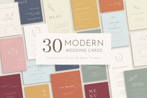 30 Modern Wedding Stationery Designs