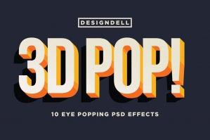 3D Pop! Photoshop Effects
