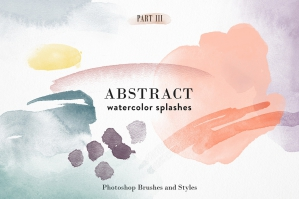 Abstract Watercolor - Photoshop Brushes