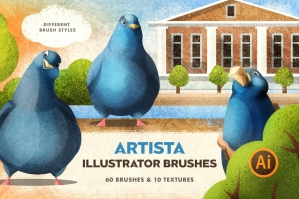 Artista Brushes for Illustrator