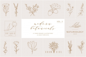 Botanical Illustrations & Logo Templates Vol.2