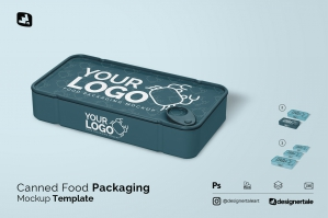 Canned Food Packaging Mockup