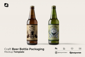 Craft Beer Bottle Packaging Mockup