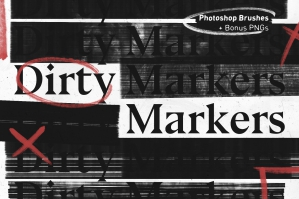 Dirty Markers - Photoshop Brushes