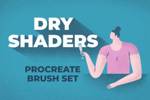 Dry Shaders Procreate Brush Set