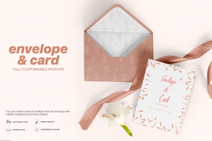 Envelope and Card Mockups Set - A5 Size