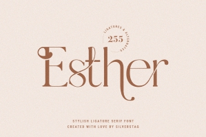 Esther - Stylish Ligature Serif Font