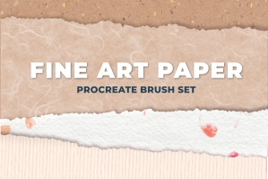 Fine Art Paper Procreate Brush Set