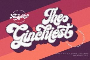 Ginchiest - The Retro and Groovy Font