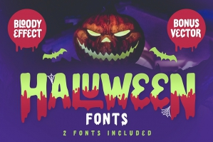 Haluween Fonts - Bloody Effect