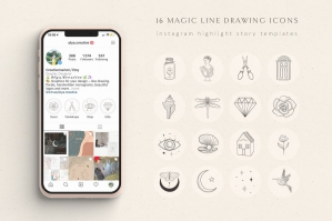 Hand Drawn Instagram Highlight Story Templates