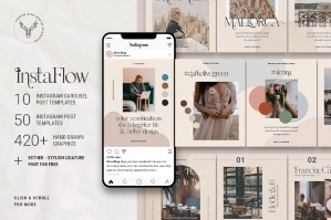 InstaFlow - Carousel Post Templates