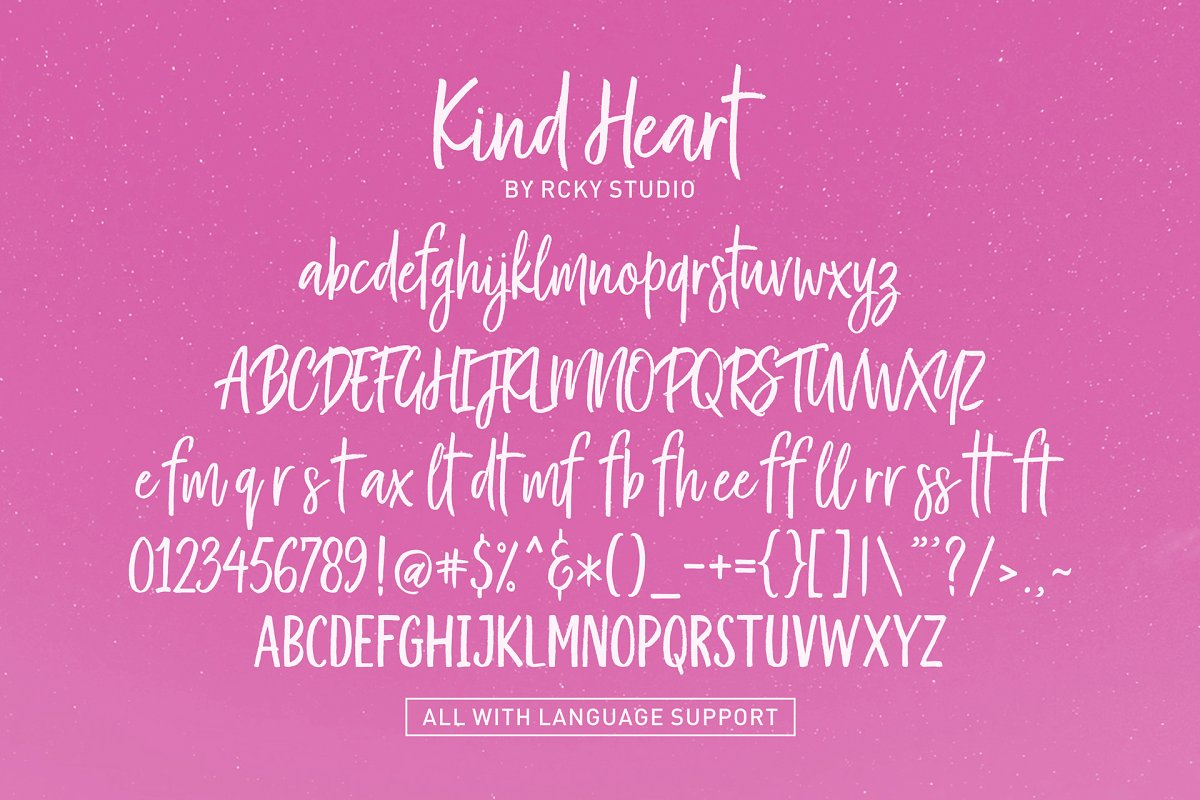 Kind Heart Font Duo