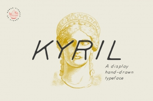 Kyril - A Display Hand-Drawn Font