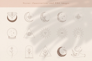Logo Elements Vector Illustrations. Branding Kit