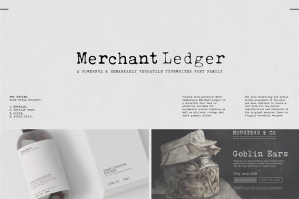Merchant Ledger - Typewriter Family