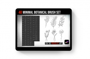 Minimal Botanical Brush Set