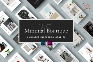 Minimal Boutique - Animated Instagram Stories