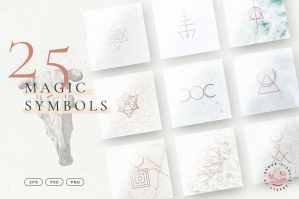 Minimalistic Magic Symbols