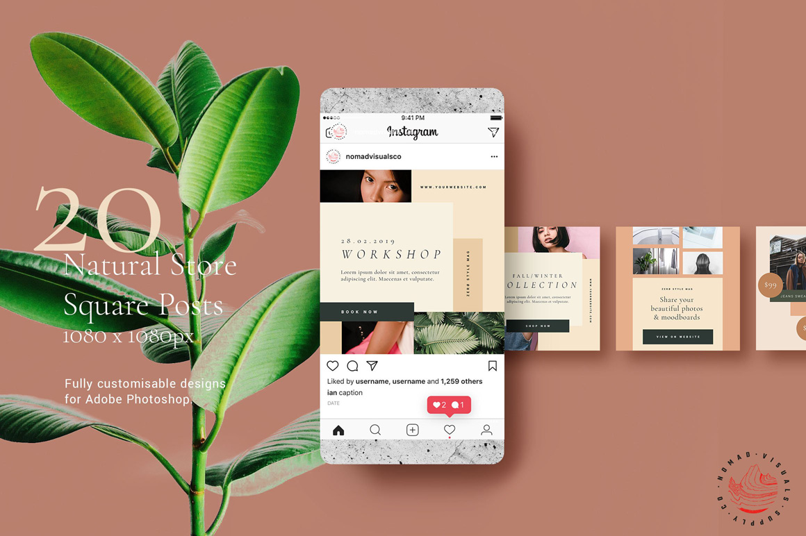 Natural Store Animated Instagram Stories & Posts