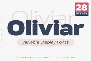 Oliviar Sans Variable Fonts