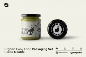 Organic Baby Food Packaging Mockup